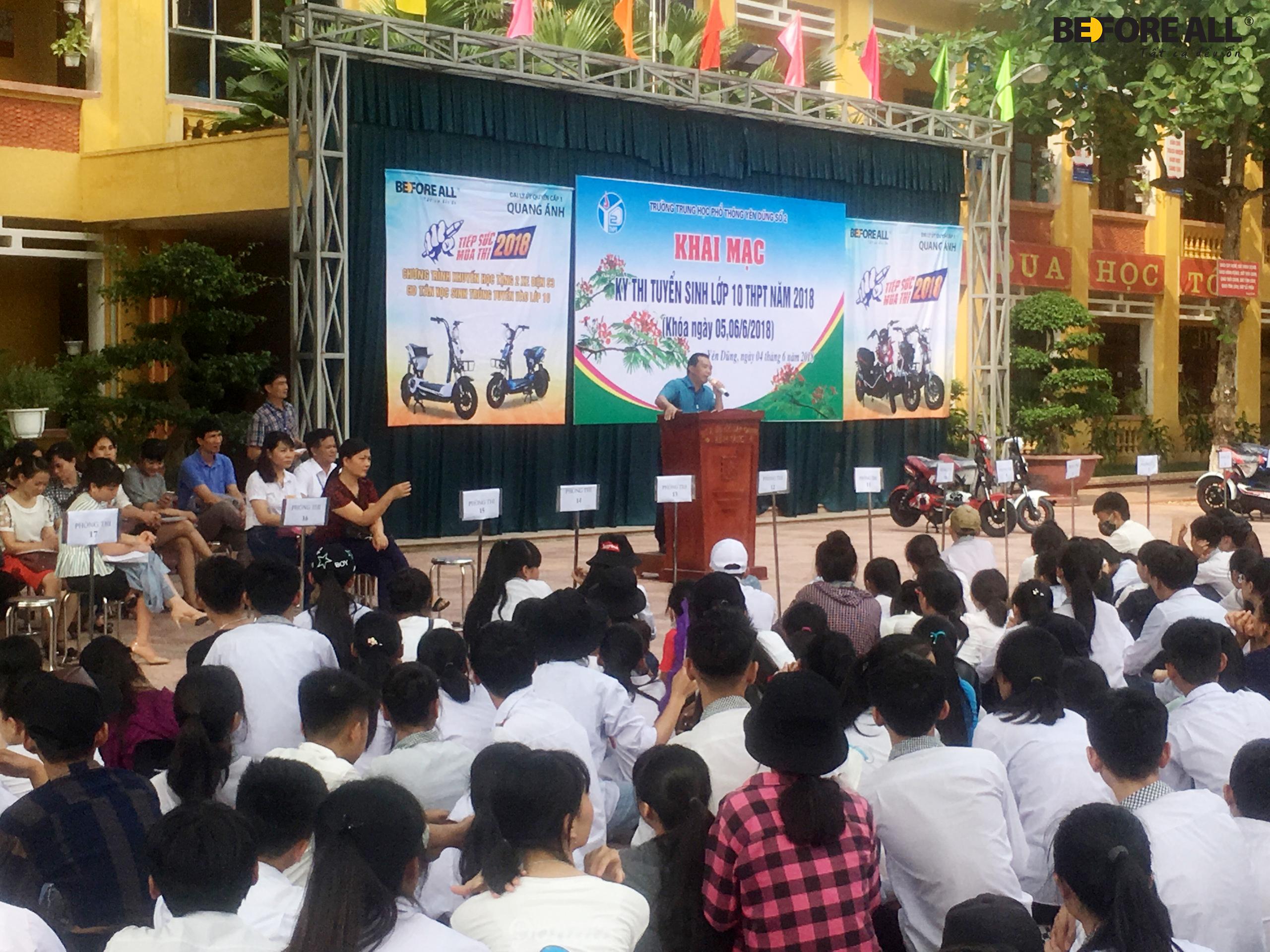 Đại lý Quang Ánh - Chương trình Tiếp sức mùa thi 2018 - XE ĐIỆN BEFORE ALL
