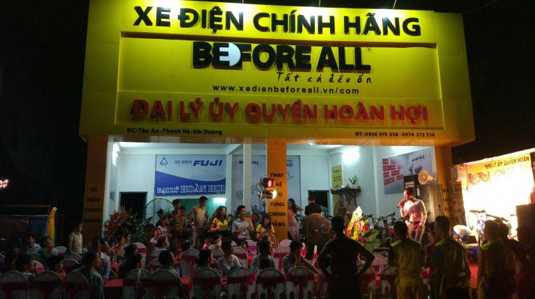 Khai trương đại lý Hoàn Hợi - Hải Dương - XE ĐIỆN BEFORE ALL