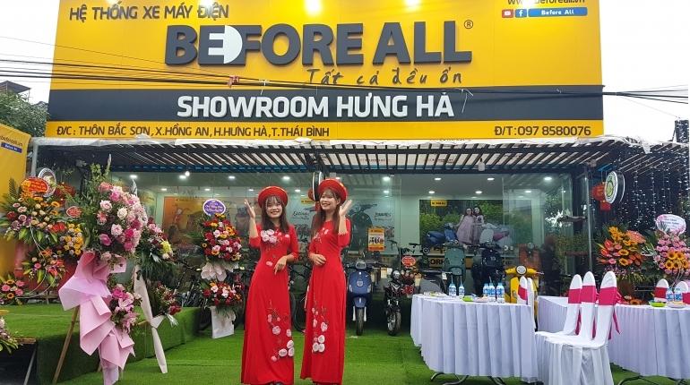 KHAI TRƯƠNG SHOWROOM HƯNG HÀ - XE ĐIỆN BEFORE ALL